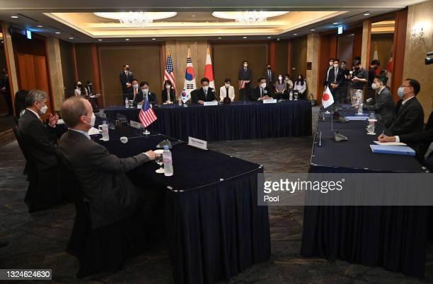 Special Representative for North Korea Sung Kim, talks with Noh Kyu-duk , South Korea's Special Representative for Korean Peninsula Peace and...