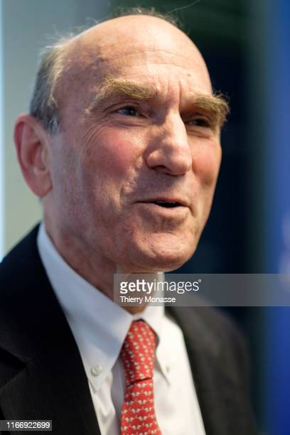 S Special Representative for Venezuela Elliott Abrams answers questions during a conference hosted by the German Marshall Fund of the United States...