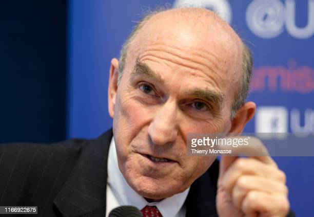 S Special Representative for Venezuela Elliott Abrams is answering questions during a conference hosted by the German Marshall Fund of the United...