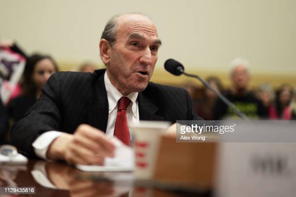 S Special Representative for Venezuela Elliott Abrams testifies during a hearing before House Foreign Affairs Committee February 13 2019 on Capitol...
