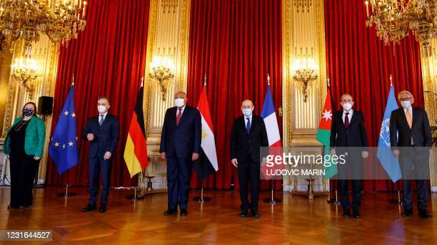 Special representative of the European Union for the peace process in the Middle East Susanna Terstal, German Minister of Foreign Affairs Heiko Maas,...