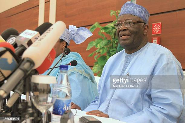 Special representative of the joint UNAfrican Union peacekeeping mission Ibrahim Gambari attends the inaugural meeting of the joint committee of the...