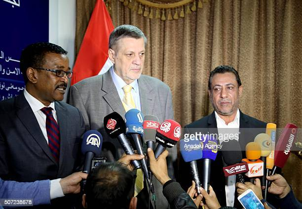 Special Representative of the United Nations in Iraq Jan Kubis and Iraqi MP head of the defence and security committee in parliament Hakim alZamili...