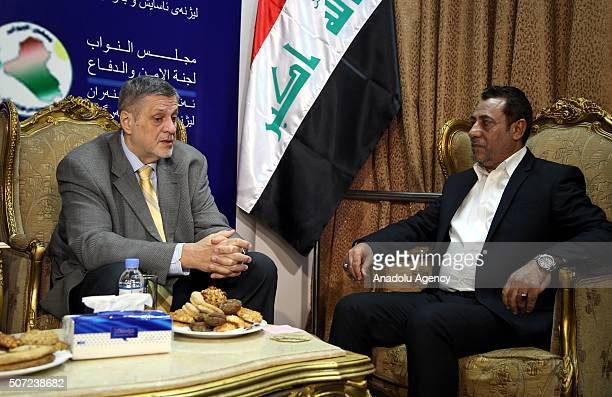 Special Representative of the United Nations in Iraq Jan Kubis meets with Iraqi MP head of the defence and security committee in parliament Hakim...