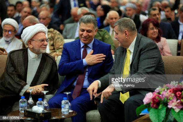 Special Representative of the United Nations in Iraq Jan Kubis President of the Iraqi Turkmen Front Arshad alSalihi and A Turkmen representative...