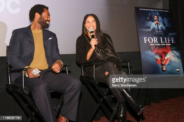 FOR LIFE A special screening of ABC's new drama For Life was held at the AMC River East Theater on February 7 2020 After the screening a panel was...