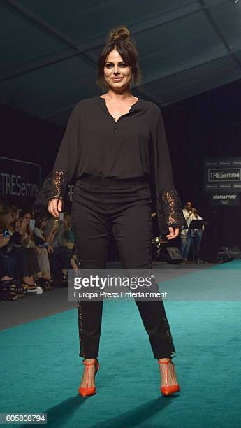Special sizes Model Maria Jara walks the runway during Elena Miro fashion show for curvies during the MFSHOW Women on September 14 2016 in Madrid...