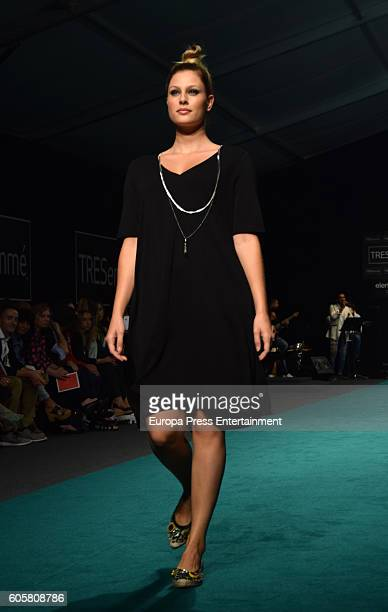 Special sizes model walks the runway during Elena Miro fashion show for curvies during the MFSHOW Women on September 14 2016 in Madrid Spain