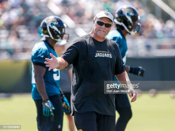 Special Teams Coordinator Joe Decamillis of the Jacksonville Jaguars during Training Camp at Dream Finders Homes Practice Complex on July 27 2018 in...