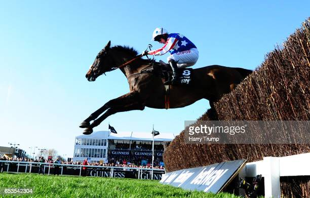 Special Tiara ridden by Noel Fehily jumps the last before going on to win the Betway Queen Mother Champion Chase during Ladies Day of the Cheltenham...