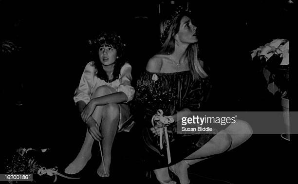 JAN 2 1982 Special to the Denver Post After ceremony bridesmaid rested before formal portraits At left is Chastity Bono daughter of Sonny from his...