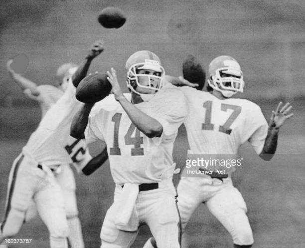 JUL 17 1985 JUL 19 1985 Special Transmission For The Denver Post áBroncos quarterback Scott Stankavaqe who was with the team for part of the past...