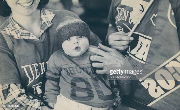 JAN 25 1987 Special Transmission for the Denver PostUnited flight 175 Saturday was twothirds full of Broncos' fans and Karen Donofrio 6monthsold was...