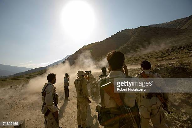 Special US government instructors from Operational Detachment Alpha train Afghan Security Guard soldiers on August 31 at the Forward Operation Base...