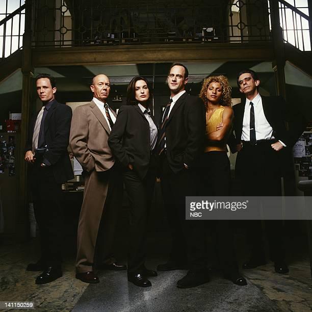 Special Victims Unit -- Season 1 -- Pictured: Dean Winters as Detective Brian Cassidy, Dann Florek as Captain Donald Cragen, Mariska Hargitay as...