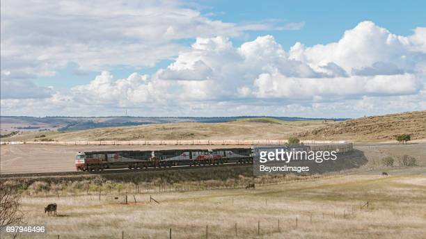 SCT Specialised Container Transport freight train in Adelaide Hills