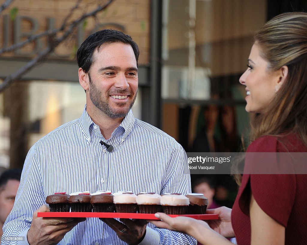 Speciality cupcakes are created for Jimmie Johnson at Extra at The Grove on February 27, 2013 in Los Angeles, California.