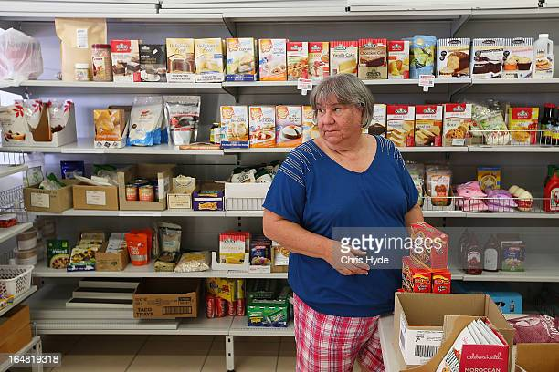 Speciality food shop owner Georgina inside her Celiac Supplies store in the suburb of Coorparoo on March 28 2013 in Brisbane Australia The store is...