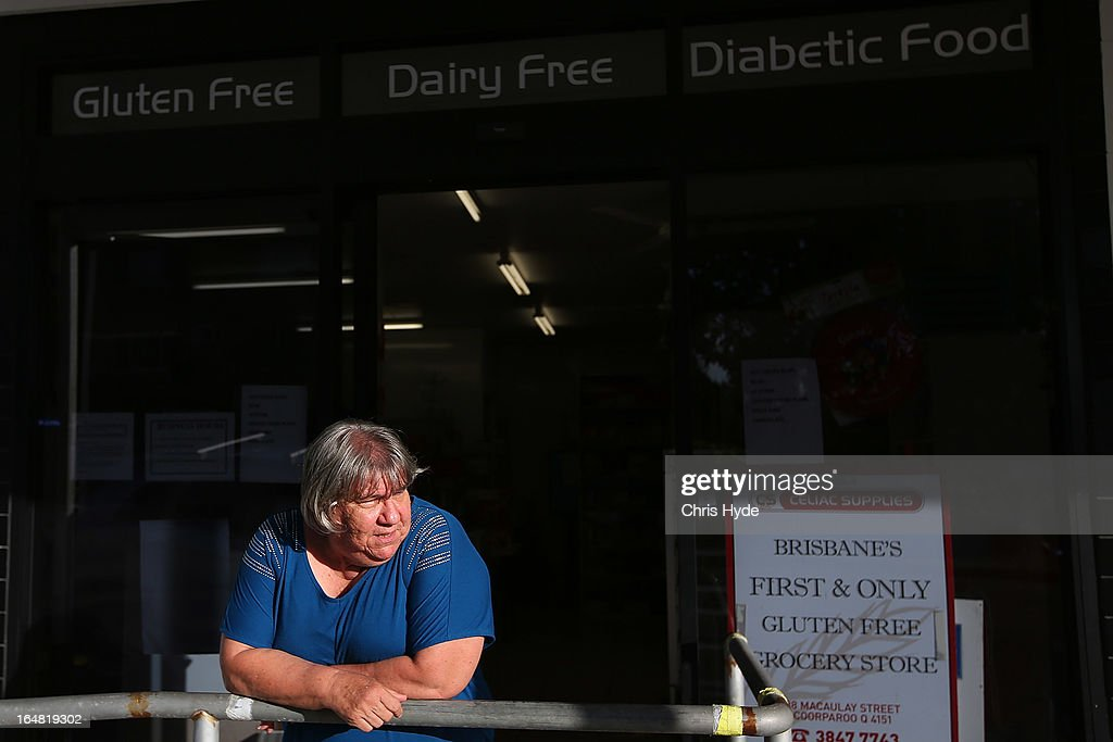 Speciality food shop owner Georgina stands oustide her Celiac Supplies store in the suburb of Coorparoo on March 28, 2013 in Brisbane, Australia. The store is charging $5 for customers to browse the store to prevent shoppers from seeking her advise and expertise on products but buying elsewhere.