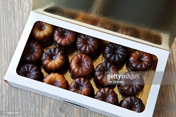 Speciality French patisserie gateau cakes from Bordeaux in France Le Canele de Bordeaux in gift box