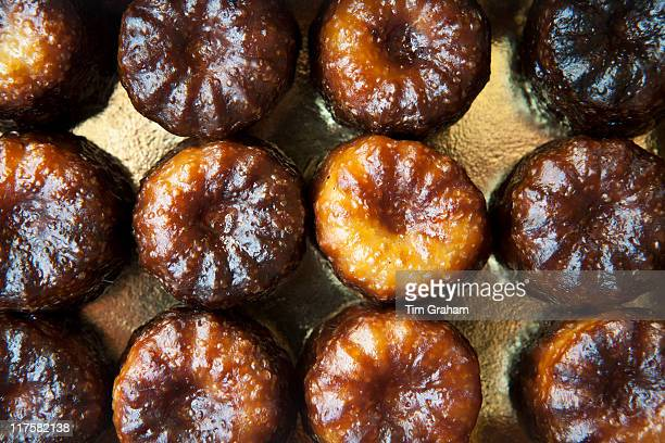 Speciality French patisserie gateau cakes from Lemoine in Bordeaux France Le Canele de Bordeaux