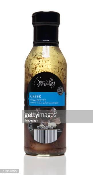 Speziell ausgewählte Flasche griechischer-Vinaigrette