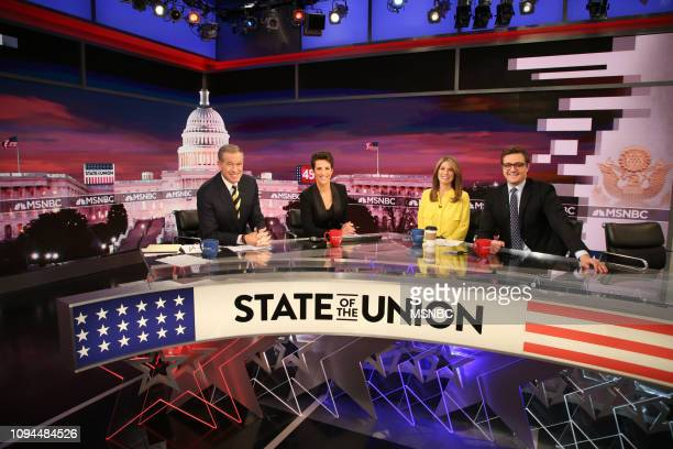 Specials - State of The Union -- Pictured: Brian Williams, Rachel Maddow, Nicolle Wallace, Chris Hayes in Studio 3A at 30 Rockefeller Plaza on...