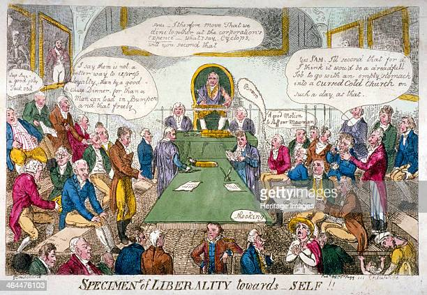 'Specimens of Liberality towards Self' 1809 A Common Council meeting in the Guildhall Council Chamber Members eagerly agree to celebrate George III's...