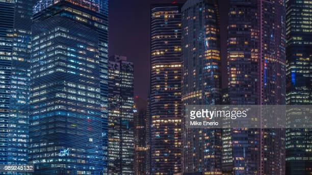 specks of light - singapore cbd stock pictures, royalty-free photos & images