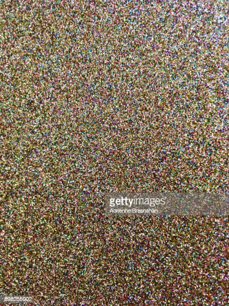 Specks of multicolored glitter, full-frame