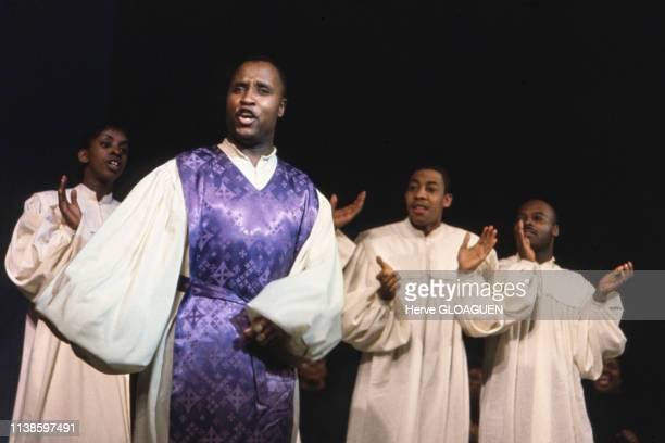 Spectacle gospel de Black Nativity en 1962 au Théâtre des ChampsElysées à Paris France