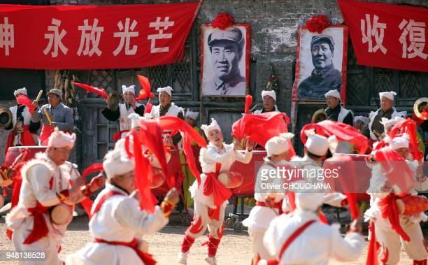 Spectacle pour touristes chinois sur le site mythique de Yan' An berceau du Maoisme dans la province du Shanxi le 10 Novembre 2014 Chine Toute...