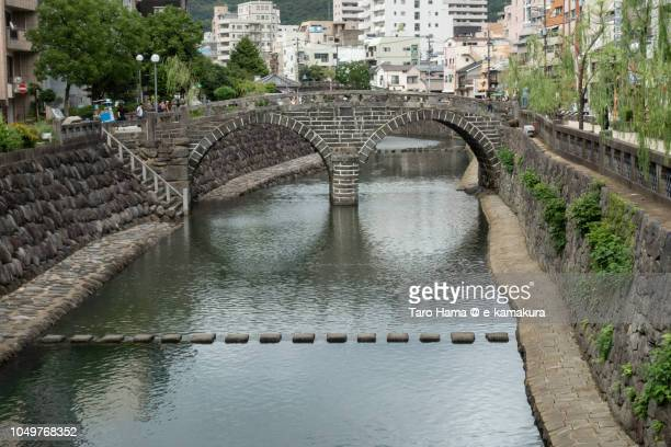 spectacles bridge (meganebashi or megane bridge) in nagasaki city in japan - nagasaki prefecture stock pictures, royalty-free photos & images