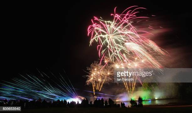 A spectacular laser and firework finale brings to an end the annual Castle Howard Proms Spectacular concert held on the grounds of the Castle Howard...