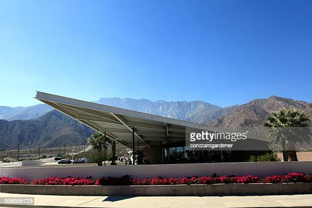 spectacular palm springs mid century visitor's center - palm springs stock pictures, royalty-free photos & images