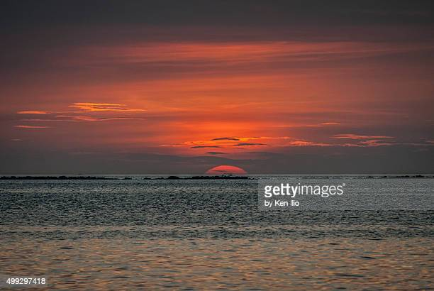 spectacular red sunset - ken ilio stock pictures, royalty-free photos & images