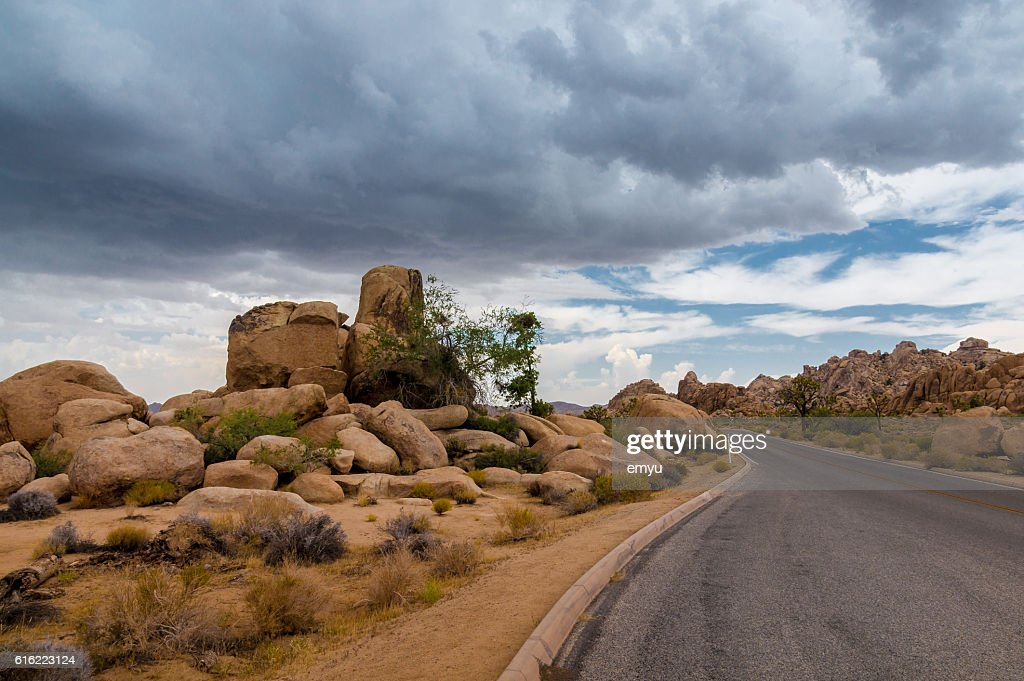 Spectacular rock formations at Joshua Tree National Park, California, USA : Stock-Foto
