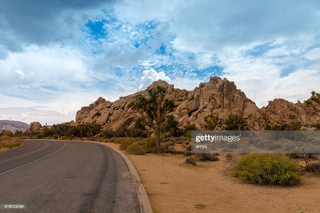 Spectacular rock formations at Joshua Tree National Park, California, USA : Stock Photo