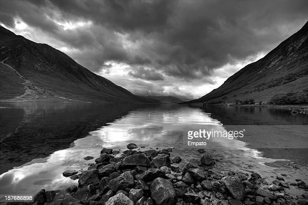 Spectacular scenery of Loch Etive, Scottish Highlands.
