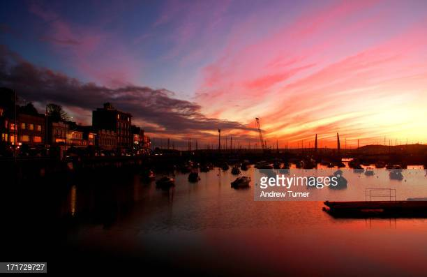 CONTENT] A spectacular sky is captured shortly after a winter sunset over Torquay marina