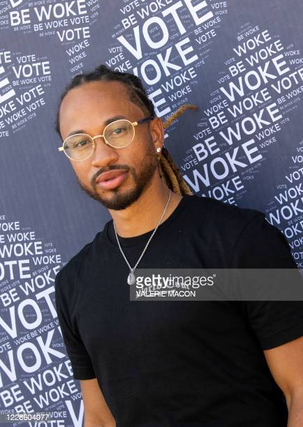 Spectacular Smith of Pretty Ricky poses at the Gen-Z Drive Up Voter Registration Event organized by BeWoke Vote, September 19 in Compton, California.