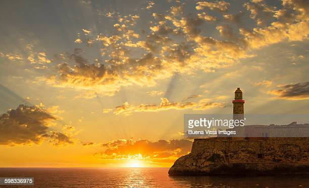 Spectacular sunrise over El Morro fortress