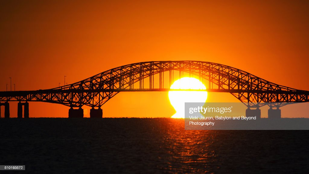 Spectacular Sunrise Through The Robert Moses Bridge Babylon NY