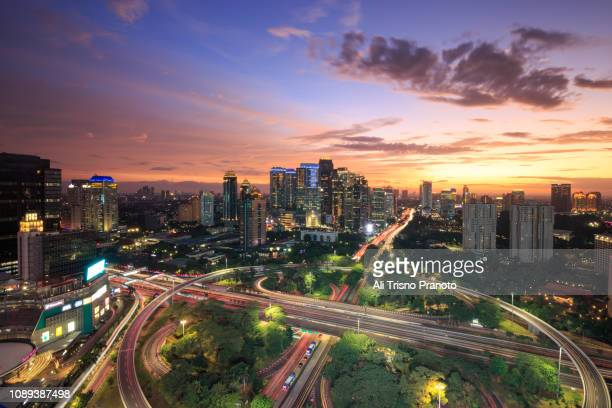spectacular sunset view, jakarta - jakarta stock pictures, royalty-free photos & images