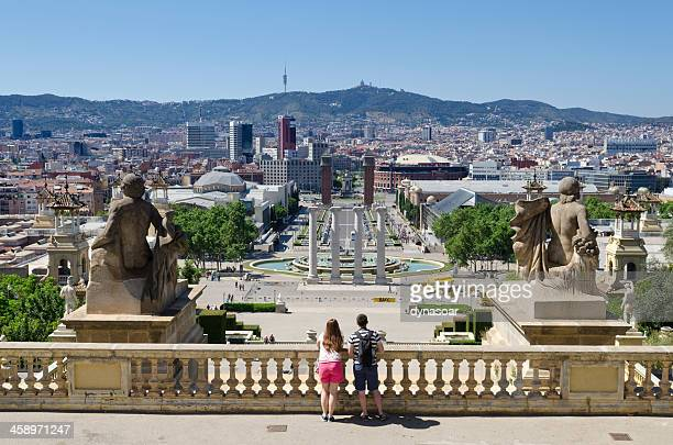 Spectacular view of central Barcelona, Spain.