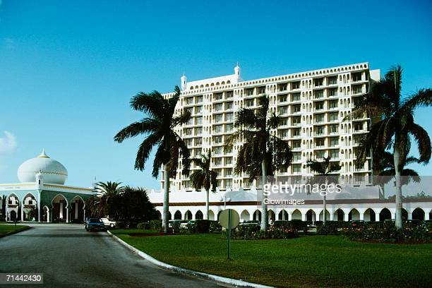 spectacular view of princess towers hotel, freeport, grand bahamas, bahamas - freeport bahamas stock photos and pictures