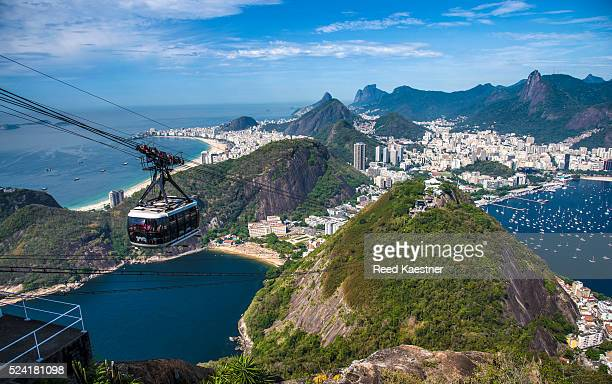 spectacular view of rio de janeiro from sugarloaf mountain - corcovado stock pictures, royalty-free photos & images