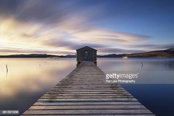 spectacular views of boomer bay. - hobart tasmania stock pictures, royalty-free photos & images