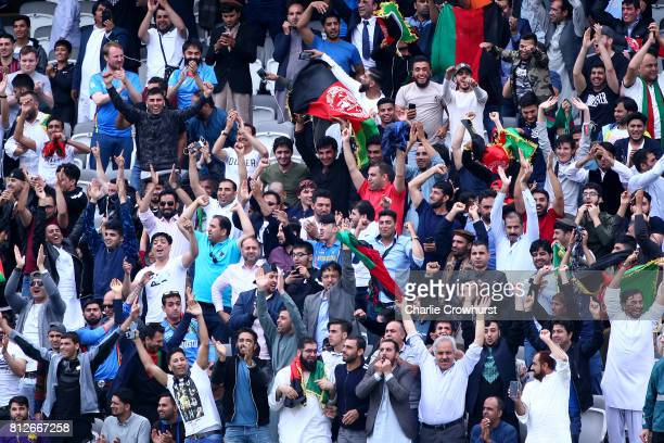 Spectator goes wild during the MCC v Afghanistan cricket match at Lord's Cricket Ground on July 11 2017 in London England