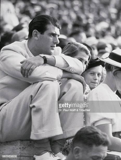 Spectator in crowd at stadium